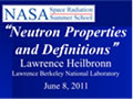 Neutron Properties and Definitions